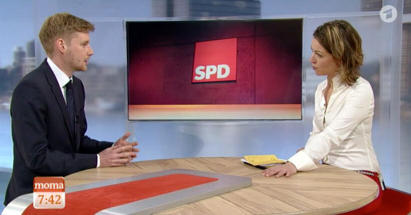 Erik Flügge im ARD-Morgenmagazin